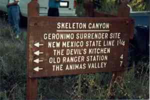 Picture of Skeleton Canyon Marker