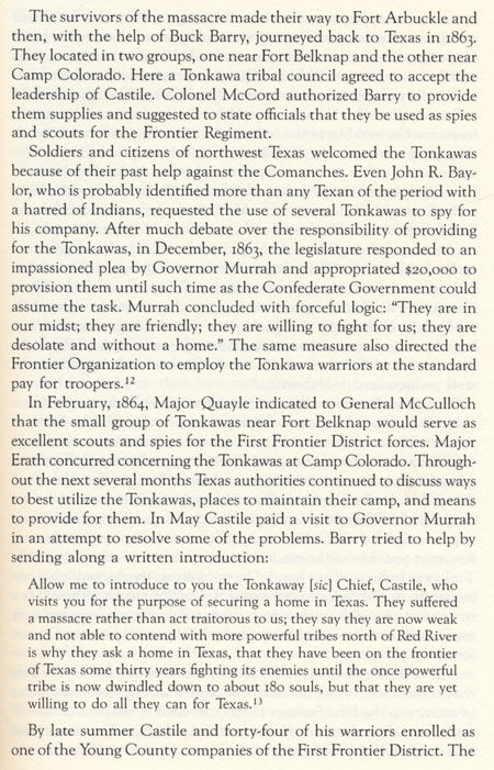 Chief Placido and Castile's Tonkawas