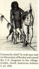 Picture of Comanche Chief Ta-wah-que-nah (Mountain of Rocks)