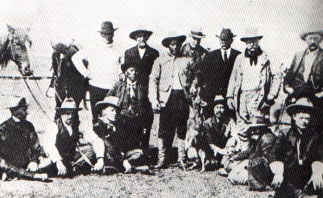 Picture of Quanah Parker/Teddy Roosevelt Wolf Hunt Party