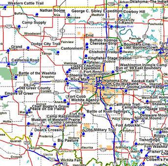 Thumbnail Map of Western Oklahoma