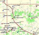 Thumbnail Map of Northern View of Jacksboro