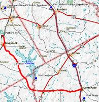 Fort Henderson Map