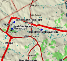 Elm Creek Fight Map