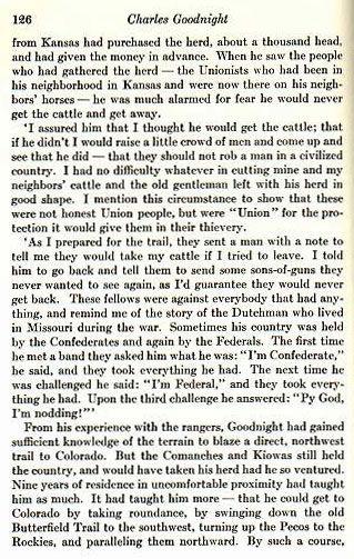 Charles Goodnight, Cowman and Plainsman
