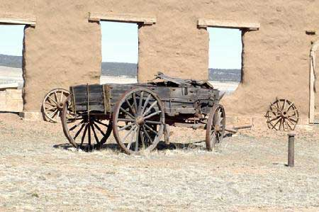 Picture of Wagon in Mechanic's Corral at Fort Union