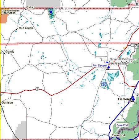 Map of Northwest Utah Historical Markers