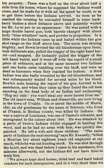 Indian Outrages in Uvalde County story from the book Indian Depredations in Texas by J. W. Wilbarger