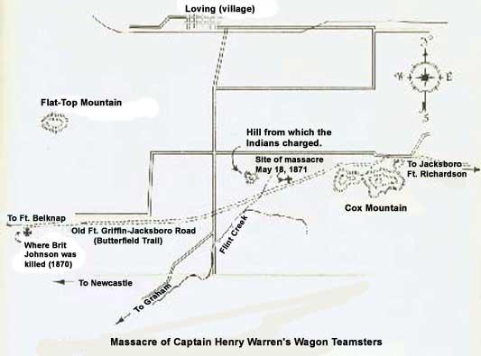 Warren Wagon Train Massacre Map