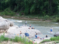 Picture of Swimmers at Wasp Creek Near Crawford, Texas