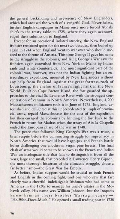 Story of Sir William Johnson