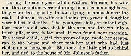 Waford Johnson story by Wilbarger