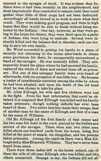 Massacre of Wood and the Killough Family