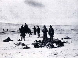 Dead Indians at Wounded Knee Battlesite