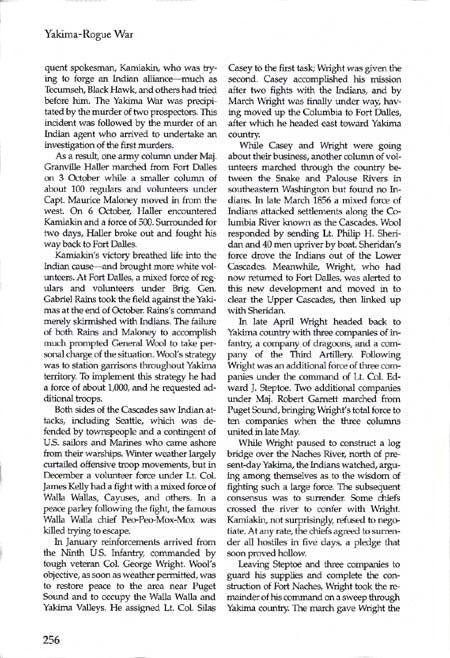 Story of the Yakima War