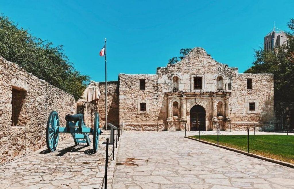 Exterior of the Alamo, Texas
