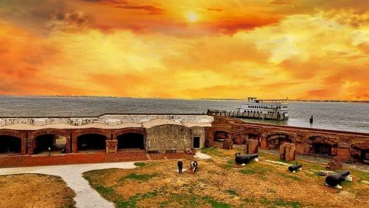 Fort Sumter at sunset