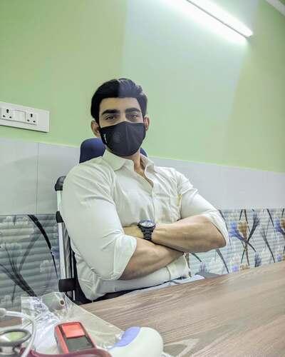 Dr. Ramit Singh Sambyal in his clinic in Vasant Kunj, Delhi