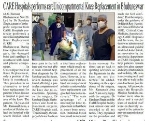 Sandeep Singh in Care hospital performs rare knee replacement