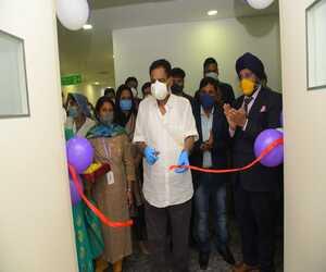 Dr Sandeep Singh with Naba Kishore Das, health and family welfare minister, inaugurating sports center Bhubaneswar