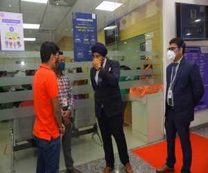 Dr Sandeep Singh Talking to people