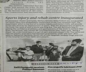 best orthopedic doctor in Bhubaneswar - Dr Sandeep Singh in news headline