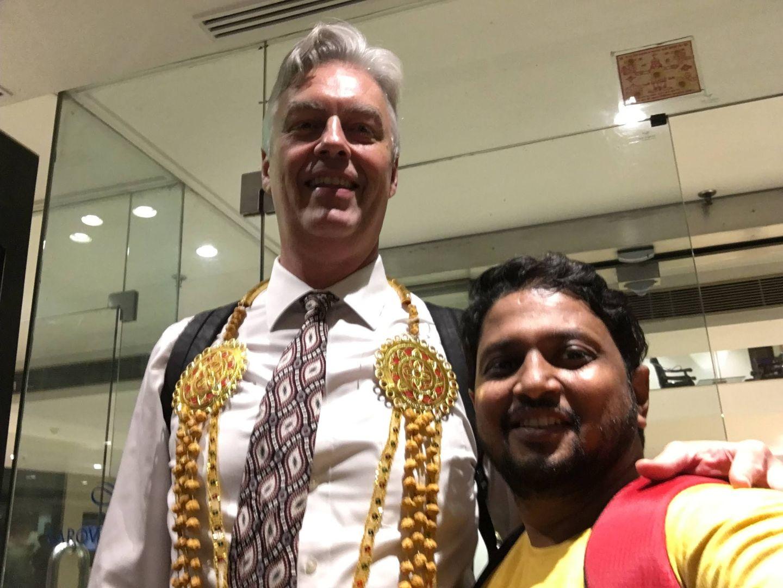 Dr. Kalpesh Mande with Derek Gill at Noida, US