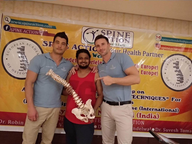 Dr. Kalpesh Mande with Dr Gabriele Benedetti DO & Dr. Alessandro Carollo DO