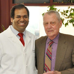"""Dr. Gaurav Gupta with the """"Father of Liver Transplant - Dr. Thomas Starzl"""""""