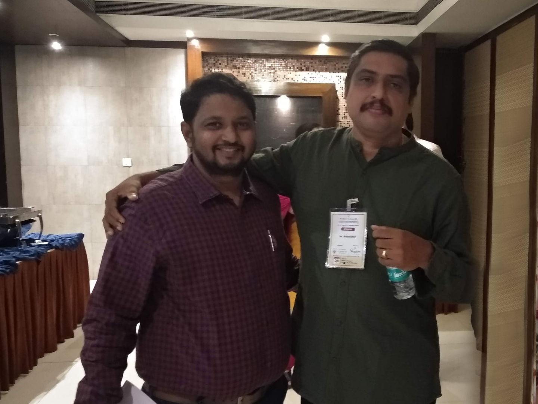 Dr. Kalpesh Mande with his mentor of Panchakarma Dr Gopakumar