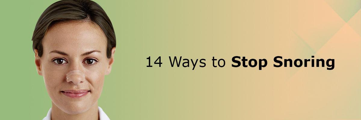 14 Ways to stop Snoring
