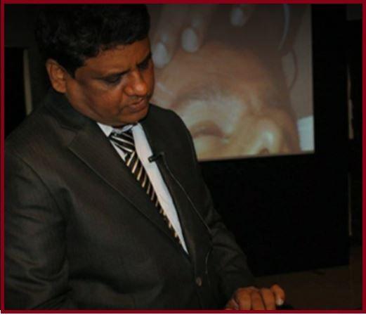 Dr. Shankar Sawant, performing a hair transplant surgery