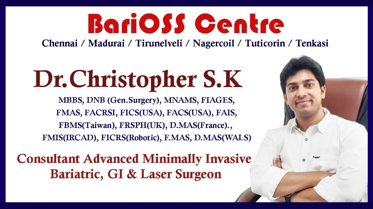 Dr. Christopher, Best Bariatric Surgeon in south of Tamil Nadu