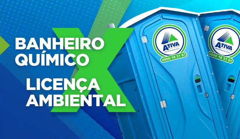 As cabines sanitárias dever ser alugadas somente com as certificações ambientais obrigatórias