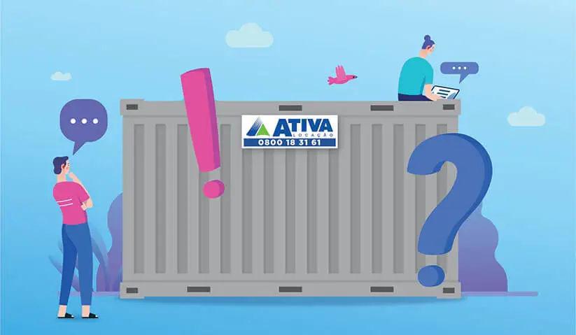 imagem de capa do artigo: Alugar container para canteiro de obra: tudo o que você precisa saber. Ativa