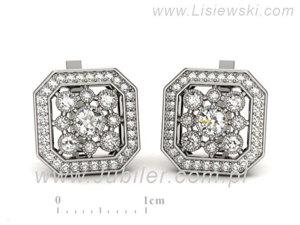 Kolczyki z białego złota z brylantami - k16319b - 1