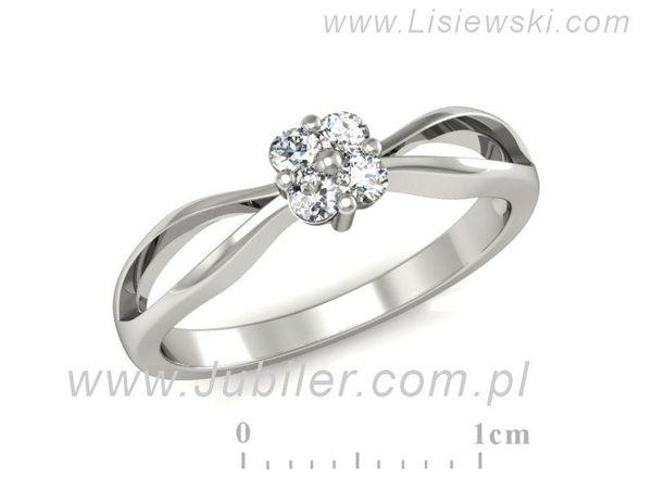 Platynowy Pierścionek Zaręczynowy Diamenty P15076pt Lisiewski