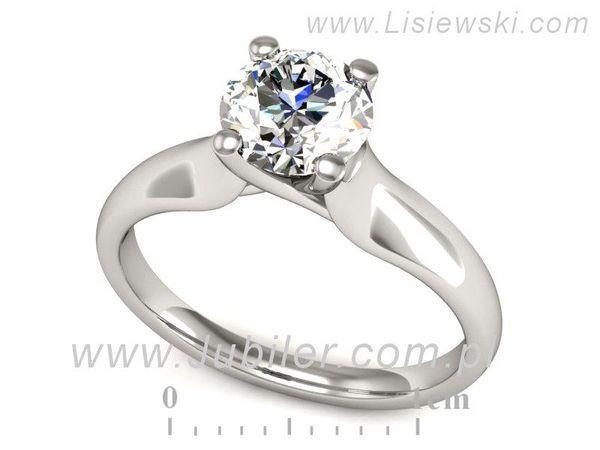 Pierścionek Zaręczynowy Diament P15225b Lisiewski