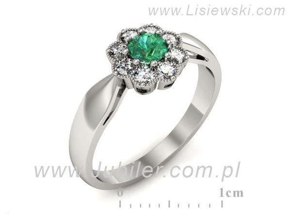Idealny pierścionek ze szmaragdem - p16478bsm - 1