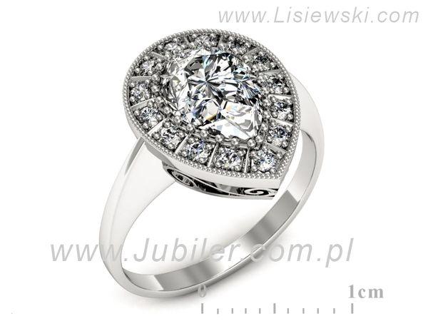 Olśniewający pierścionek zaręczynowy z diamentami - 1747skW_pro - 1