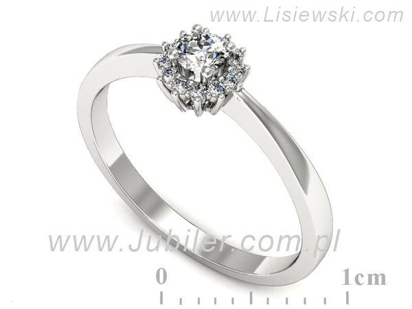 Wspaniały pierścionek zaręczynowy z brylantami - p16735b - 1