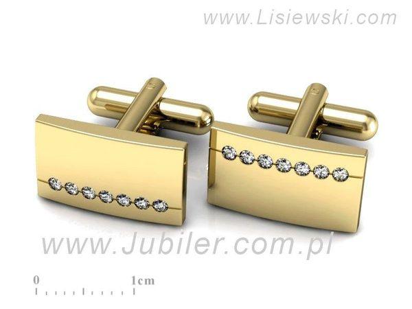 Śliczne złote spinki z brylantami - Sp002z - 1