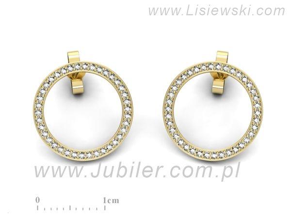 Kolczyki z żółtego złota z brylantami - k3011z - 1