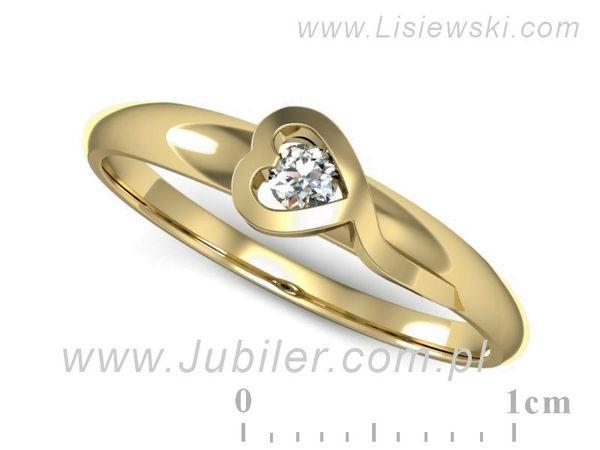 Pierścionek Zaręczynowy Diament P15067z Jubiler