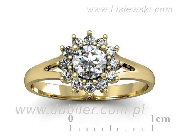 Wspaniały pierścionek zaręczynowy z brylantami - 20052z - 1