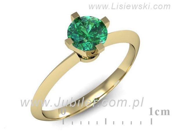 Piękny złoty pierścionek ze szmaragdem - 541bzsm - 1