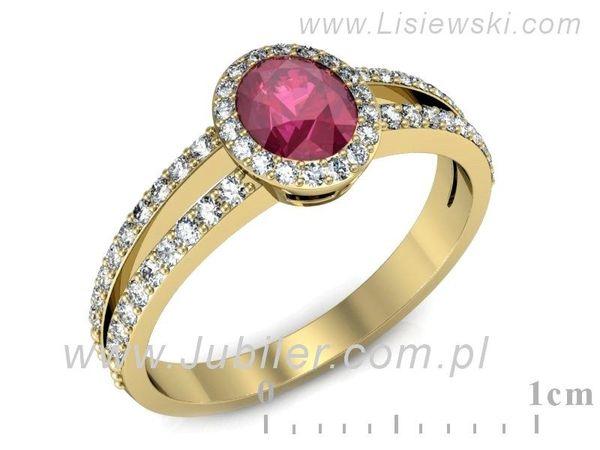 Wyjątkowy złoty pierścionek z rubinem - 1003skW_pro - 1