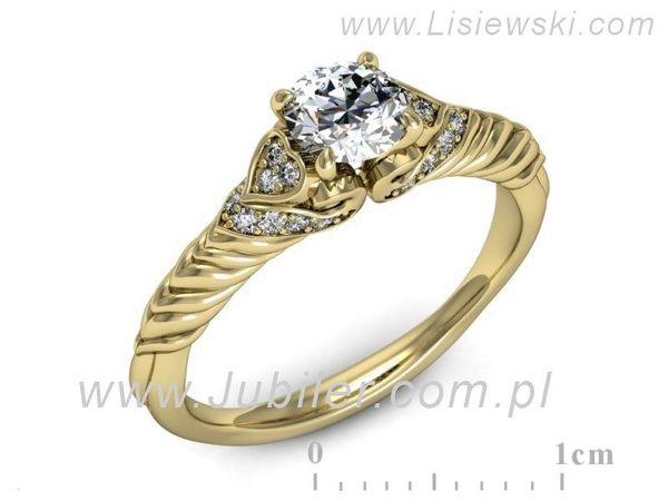 Pierścionek Zaręczynowy Diamenty P16380z Lisiewski