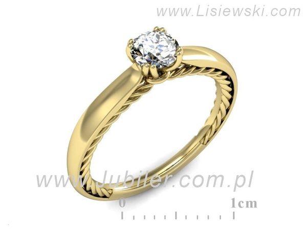 Pierścionek Zaręczynowy Diament P16443z Lisiewski
