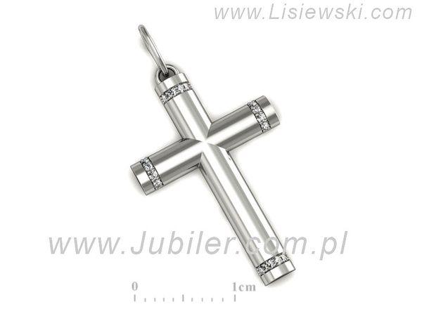 Złoty krzyżyk z brylantami - M15155b - 1